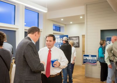 Tom Spangler at Campaign Headquarters Grand Opening