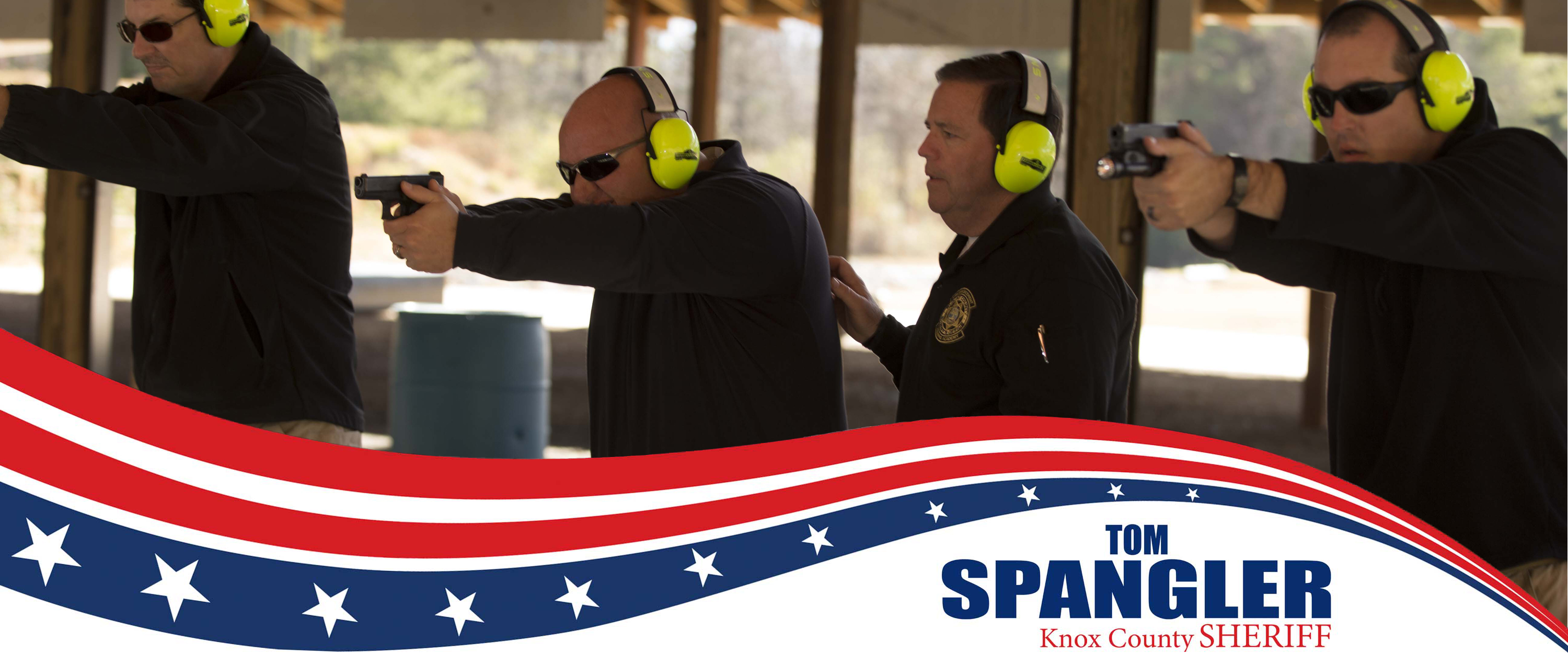 Tom Spangler Training the Firing Range